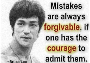 Bruce Lee on mistakes