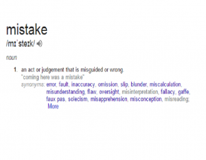 Mistake Definition